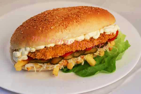 Sandwich Snițel crispy Mare